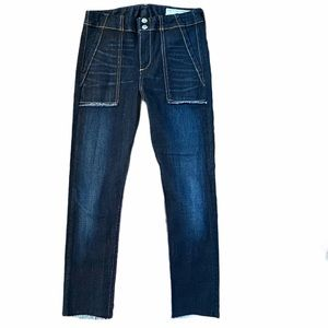 Rag & Bone Raw Hem Crop Jeans